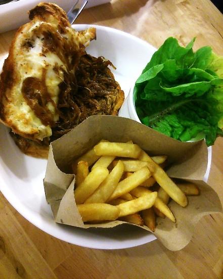 Beef brisket sandwich