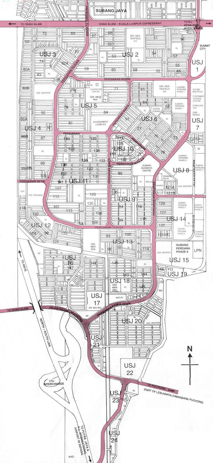 USJ Subang Jaya eCommunity Map of USJ